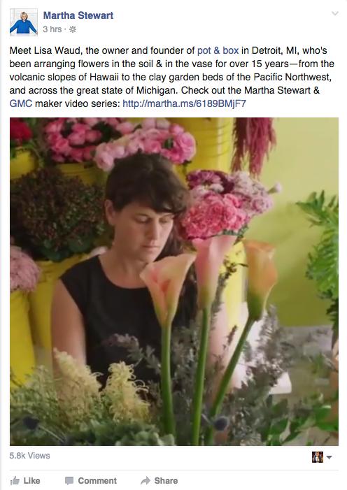Martha Steward FB Post - Oct 7