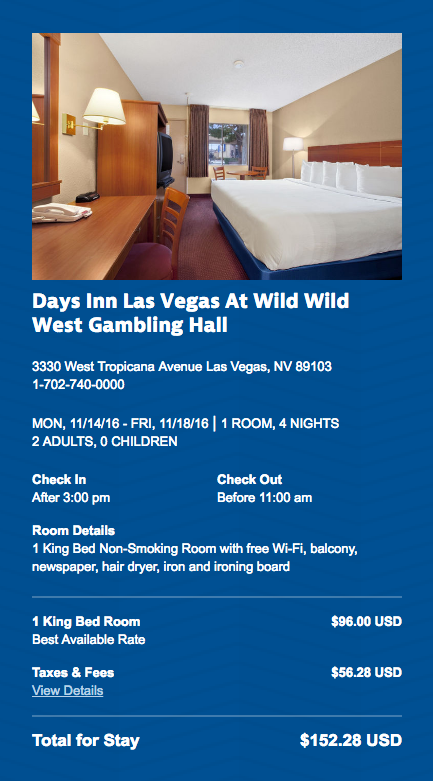Days Inn Las Vegas Reservation 1