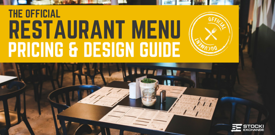 The official restaurant menu pricing design guide